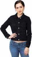 Buydifferent Full Sleeve Solid Women Denim Jacket