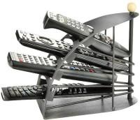 Big Impex 4 Compartments Iron Remote Stand(Black)
