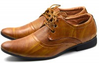 Macro Miles Men's Office and Party 295 Derby For Men(Tan)