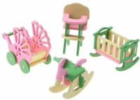 Pacific Toys Wooden Doll House Kids' Play Room Set (Multicolor)(Multicolor)