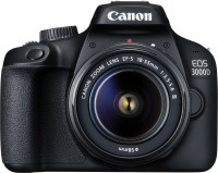 Canon EOS 3000D DSLR Camera Single Kit with 18-55 Lens (Moto Pulse Escape Bluetooth Headset, 16GB Memory Card, Carry Case)(Black)