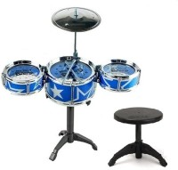 one&only Mini Jazz Drum Instruments Set Kit Musical Toy with High Straight(Blue)
