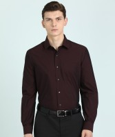 Arrow Men Self Design Formal Maroon Shirt