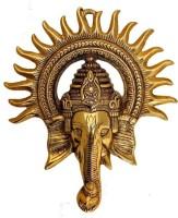 Chhariya Crafts Wall Hanging Kiran Ganesh Decorative Showpiece  -  23 cm(Aluminium, Gold)
