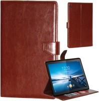 Gizmofreaks Flip Cover for Lenovo Tab M10 10 Inch Model : X605L(Dark Tan)
