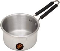 shiv mart Sauce and Milk Pan with Steel Handle Unbreakable Milk Pan 16 cm diameter with Lid(Aluminium, Induction Bottom)