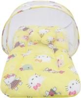Miss & Chief Baby Mosquito Net With Mattress Baby Mattress Teddy Print(Fabric, Yellow)