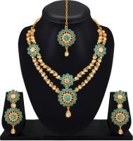 Atasi International Alloy Jewel Set(Gold, Blue)
