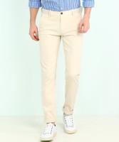 Arrow Sport Slim Fit Men Beige Trousers