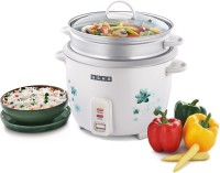 Usha MC-3718S Electric Rice Cooker with Steaming Feature(1.8 L, White)