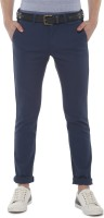 Van Heusen Slim Fit Men Dark Blue Trousers