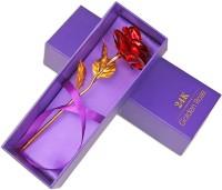 Golden Rose Artificial Flower Gift Set
