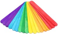 R H lifestyle Crafts Wooden Ice Cream Sticks for DIY Crafts, Hobby Crafts, Project Work, Scrap booking (50 Pieces) (multi, big)