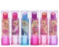 Excel Girl's Cartoon Lipstick Style Eraser (Multicolour) Pack of 6 Non-Toxic Eraser(Set of 6, Multicolor)