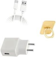 DAKRON Wall Charger Accessory Combo for Samsung Galaxy M20(White)