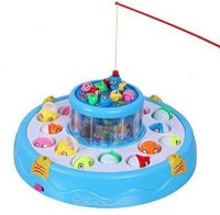 Mine Swift Electronic And Rotating With Flashing Gogo Fishing Toy Set For Kids Party & Fun Games Board Game