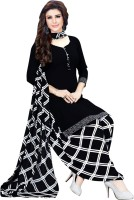 Saara Crepe Checkered Salwar Suit Material(Unstitched)