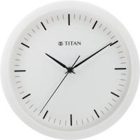 Titan Analog 30 cm X 30 cm Wall Clock(White, With Glass)