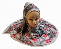 Justkartit Floral Print Lycra Blend Women Stole, Scarf, Fancy Scarf