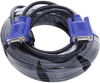 ReTrack VGA Cable for Electronic Computer, Laptop and LED,TFT, TV 20 m VGA Cable(Compatible with Universal, Black)