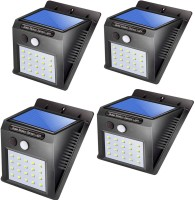 WIB Automatic Light LED Solar Panel Powered Motion Sensor Lamp Outdoor Light Waterproof Security Light for Indoor, Home, Garden, Driveway, Pathway, Street Solar Light Set(Wall Mounted Pack of 4)