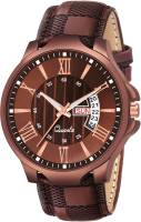 VeBNoR Brown Dial Brown Belt Brown Day and Date Analog Watch  - For Boys