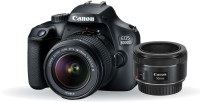 Canon EOS 3000D DSLR Camera Dual Kit with 18-55 mm + 50mm 1.8 STM lens (16 GB Memory Card & Carry Case)(Black)