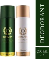 Denver Hamilton and Imperial Combo Deodorant Spray  -  For Men(400 ml, Pack of 2)