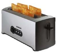 Borosil KRISPY 4 SLICE POP-UP TOASTER 1500 W Pop Up Toaster(Silver)