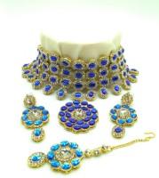 abdur raheem jewellers Stone Jewel Set(Blue)