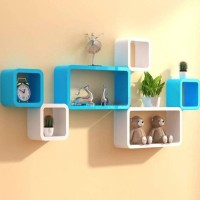 OnlinePurchas Wooden Wall Shelf(Number of Shelves - 6, Multicolor)