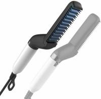 Ashu Men Styler Brush Comb Hair Straighteners Curlers 2 in 1. Hair Straightener Hair Straightener(Black)