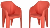 Nilkamal Plastic Cafeteria Chair(Peache)
