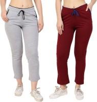 Fasha Women Grey, Maroon Track Pant