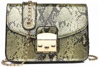 Light House Glossy Snake Print Slingbag Leather Women Crossbody Bags (Yellow) Sling Bag