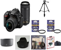 NIKON D5600 (With Basic Accessory Kit) DSLR Camera Body with Dual Lens: AF-P DX Nikkor 18 - 55 MM F/3.5-5.6G VR and 70-300 MM F/4.5-6.3G ED VR (16 GB SD Card)(Black)