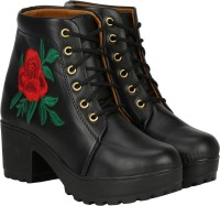 Commander Partywear And Casual Chukka Boots for Girls And Women ( 805G ). Boots For Women(Black)