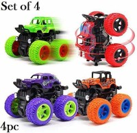 TENDERFEET Friction Powered Mini Monster Cars for Kids With Big Rubber Tires(Multicolor, Pack of: 4)