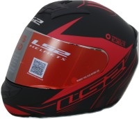 LS2 Lighter Motorbike Helmet(Black, Red)
