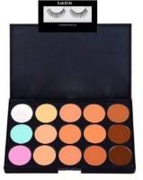 Sah&Shi Eyelash & Mac Makeup Arts Professional 15 Color Face Concealer(2 Items in the set)