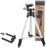 Kannu bros Camera Stand Tripod With 3-Way Head Tripod Tripod(Black, Supports Up to 1500 g)