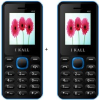 I Kall 1.8 Inch Dual Sim Multimedia Set Of Two Mobile(K-66) With Bluetooth-Blue(Black)