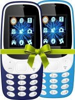 I Kall K3310 Combo Of Two Mobile(Light Blue)