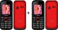 I Kall 1.8 INCH DUAL SIM MOBILE COMBO (K55RED+K55RED) WITH BLUETOOTH(Red)