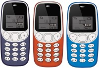 I Kall K71 Pack of Three Mobile(Dark Blue & Sky Blue & Red)