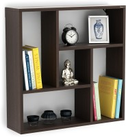 BLUEWUD Javies Particle Board Wall Shelf(Number of Shelves - 6, Brown)