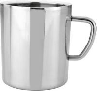 RISHI METAL Metal Stainless Steel Cup Mug for Tea & Coffee- Set of 2 - 200ml Steel(Silver, Pack of 2)
