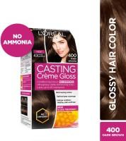 L'Oreal Paris Casting Creme Gloss Hair Color(Dark Brown 400)
