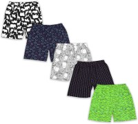 The Boo Boo Club Short For Boys & Girls Casual Printed Cotton Jersey(Multicolor, Pack of 5)