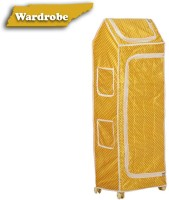 NHR Cotton Collapsible Wardrobe(Finish Color - Yellow)
